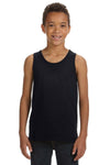 Bella + Canvas 3480Y Youth Jersey Tank Top Black Front