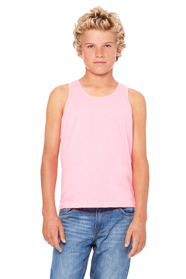 Bella + Canvas 3480Y Youth Jersey Tank Top Neon Pink Front