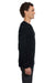 Bella + Canvas 3500 Mens Thermal Long Sleeve Crewneck T-Shirt Black Side