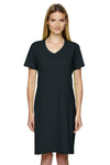 LAT 3522 Womens Short Sleeve T-Shirt Dress Black Front