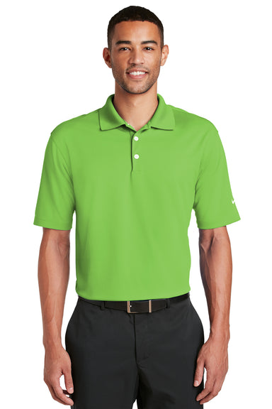 Nike 363807 Mens Dri-Fit Moisture Wicking Short Sleeve Polo Shirt Action Green Front