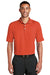 Nike 363807 Mens Dri-Fit Moisture Wicking Short Sleeve Polo Shirt Orange Front