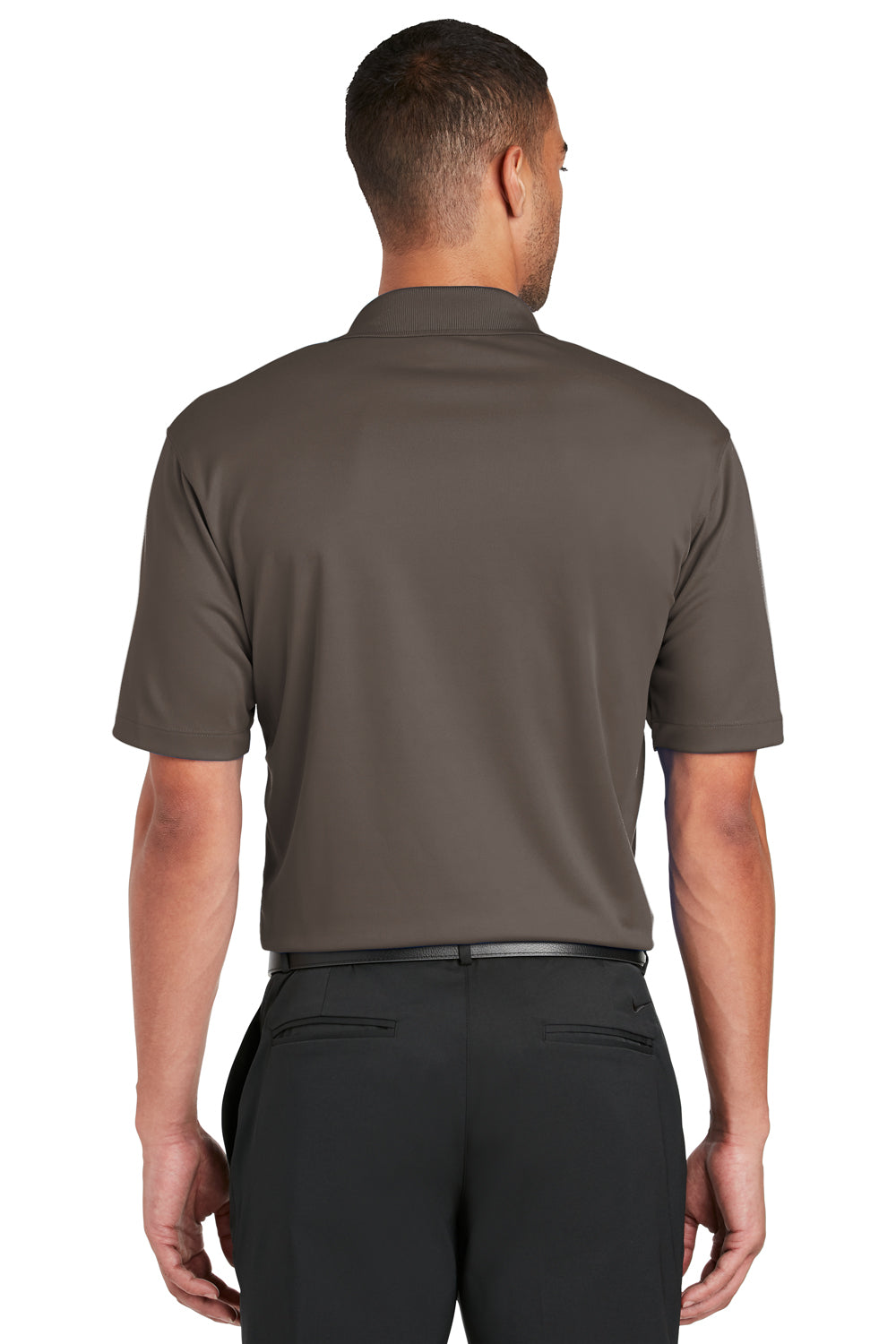 Nike 363807 Mens Dri-Fit Moisture Wicking Short Sleeve Polo Shirt Brown Back
