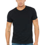 Bella + Canvas Mens Black Short Sleeve Crewneck T-Shirt