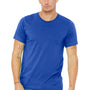 Bella + Canvas Mens True Royal Blue Short Sleeve Crewneck T-Shirt