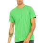 Bella + Canvas Mens Neon Green Short Sleeve Crewneck T-Shirt