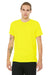 Bella + Canvas 3650 Mens Short Sleeve Crewneck T-Shirt Neon Yellow Front