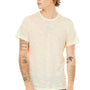 Bella + Canvas Mens Natural Slub Short Sleeve Crewneck T-Shirt
