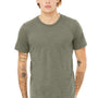 Bella + Canvas Mens Olive Green Slub Short Sleeve Crewneck T-Shirt