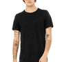 Bella + Canvas Mens Black Slub Short Sleeve Crewneck T-Shirt