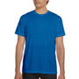 Bella + Canvas Mens True Royal Blue Marble Short Sleeve Crewneck T-Shirt
