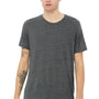 Bella + Canvas Mens Asphalt Grey Slub Short Sleeve Crewneck T-Shirt