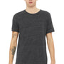 Bella + Canvas Mens Charcoal Black Slub Short Sleeve Crewneck T-Shirt