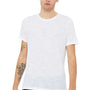 Bella + Canvas Mens White Slub Short Sleeve Crewneck T-Shirt