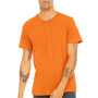 Bella + Canvas Mens Neon Orange Short Sleeve Crewneck T-Shirt