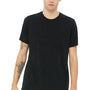 Bella + Canvas Mens Black Speckled Short Sleeve Crewneck T-Shirt