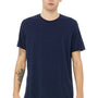 Bella + Canvas Mens Navy Blue Speckled Short Sleeve Crewneck T-Shirt