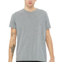 Bella + Canvas Mens Heather Deep Grey Speckled Short Sleeve Crewneck T-Shirt