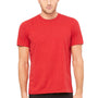 Bella + Canvas Mens Red Speckled Short Sleeve Crewneck T-Shirt