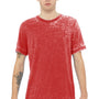 Bella + Canvas Mens Red Acid Washed Short Sleeve Crewneck T-Shirt