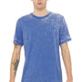 Bella + Canvas Mens True Royal Blue Acid Washed Short Sleeve Crewneck T-Shirt