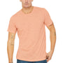 Bella + Canvas Mens Peach Slub Short Sleeve Crewneck T-Shirt