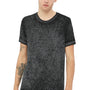 Bella + Canvas Mens Black Acid Washed Short Sleeve Crewneck T-Shirt