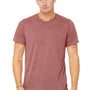 Bella + Canvas Mens Mauve Marble Short Sleeve Crewneck T-Shirt