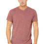 Bella + Canvas Mens Mauve Slub Short Sleeve Crewneck T-Shirt