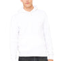 Bella + Canvas Mens White Sponge Fleece Hooded Sweatshirt Hoodie