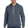 Bella + Canvas Mens Heather Deep Grey Sponge Fleece Hooded Sweatshirt Hoodie