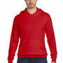 Bella + Canvas Mens Red Sponge Fleece Hooded Sweatshirt Hoodie