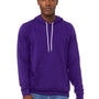 Bella + Canvas Mens Team Purple Sponge Fleece Hooded Sweatshirt Hoodie