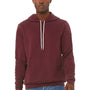 Bella + Canvas Mens Maroon Sponge Fleece Hooded Sweatshirt Hoodie