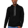Bella + Canvas Mens DTG Black Sponge Fleece Hooded Sweatshirt Hoodie