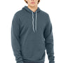 Bella + Canvas Mens Heather Slate Blue Sponge Fleece Hooded Sweatshirt Hoodie