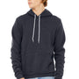 Bella + Canvas Mens Heather Navy Blue Sponge Fleece Hooded Sweatshirt Hoodie
