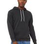 Bella + Canvas Mens DTG Dark Grey Sponge Fleece Hooded Sweatshirt Hoodie