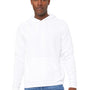 Bella + Canvas Mens DTG White Sponge Fleece Hooded Sweatshirt Hoodie