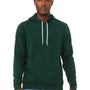 Bella + Canvas Mens Forest Green Sponge Fleece Hooded Sweatshirt Hoodie