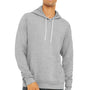 Bella + Canvas Mens Heather Grey Sponge Fleece Hooded Sweatshirt Hoodie