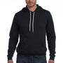 Bella + Canvas Mens Black Sponge Fleece Hooded Sweatshirt Hoodie