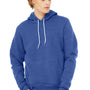 Bella + Canvas Mens True Royal Blue Sponge Fleece Hooded Sweatshirt Hoodie