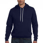 Bella + Canvas Mens Navy Blue Sponge Fleece Hooded Sweatshirt Hoodie