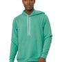 Bella + Canvas Mens Teal Green Sponge Fleece Hooded Sweatshirt Hoodie
