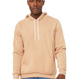 Bella + Canvas Mens Heather Sand Dune Sponge Fleece Hooded Sweatshirt Hoodie