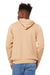 Bella + Canvas 3719 Sponge Fleece Hooded Sweatshirt Hoodie Heather Sand Dune Back