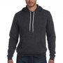 Bella + Canvas Mens Heather Dark Grey Sponge Fleece Hooded Sweatshirt Hoodie