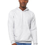 Bella + Canvas Mens Ash Grey Sponge Fleece Hooded Sweatshirt Hoodie