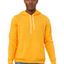 Bella + Canvas Mens Gold Sponge Fleece Hooded Sweatshirt Hoodie